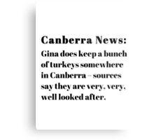 Gina's Canberra Turkeys Metal Print