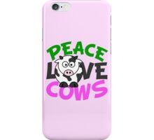 Peace Love Cows Pink iPhone Case/Skin