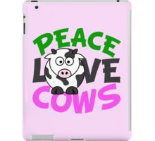 Peace Love Cows Pink iPad Case/Skin