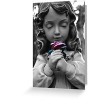 Girl with Rose Greeting Card