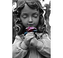 Girl with Rose Photographic Print