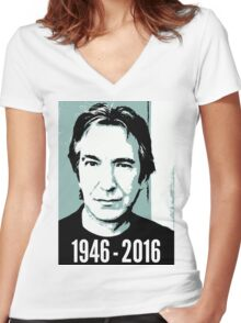 Rest In Peace, Alan Rickman Women's Fitted V-Neck T-Shirt