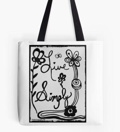 Rachel Doodle Art - Live Simply Tote Bag