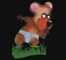 Shh.. Bear Has News! (Playing Dress UP)   (5792  Views ) One Piece - Short Sleeve