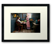 Kitchen - Morning Coffee 1915 Framed Print