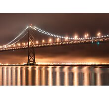 Lighting Up a Foggy Night Photographic Print