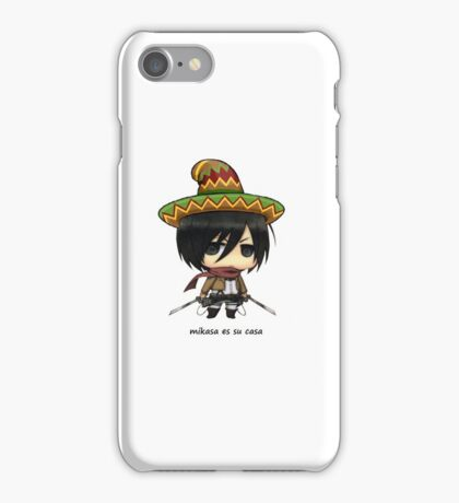 Mikasa es su casa iPhone Case/Skin