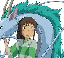 Chihiro and Haku by icedbobaa
