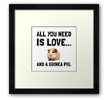Love And A Guinea Pig Framed Print