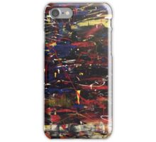 Multi coloured acrylic abstract painting iPhone Case/Skin