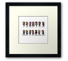 Final Fantasy Sprites Framed Print