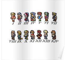 Final Fantasy Sprites Poster
