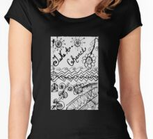 Rachel Doodle Art - Take A Chance Women's Fitted Scoop T-Shirt