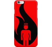 Almost Hot Flame Beer Belly Black iPhone Case/Skin