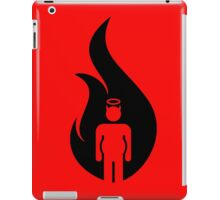 Almost Hot Flame Beer Belly Black iPad Case/Skin