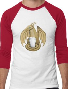 Latte Dragon (blue eye) Men's Baseball ¾ T-Shirt