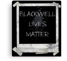 Blackwell Lives Matter Canvas Print