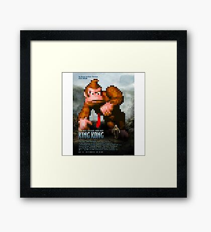 King Donkey Kong Framed Print