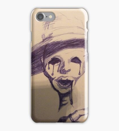 Bald crying soulless woman iPhone Case/Skin
