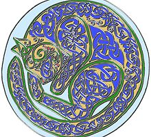 Celtic Cat Dreams in Cloisonne by ingridthecrafty