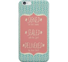 Signed Sealed Delivered Rose iPhone Case/Skin