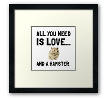 Love And A Hamster Framed Print