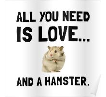 Love And A Hamster Poster