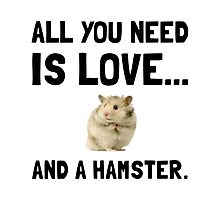 Love And A Hamster Photographic Print