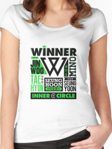 WINNER Collage Women's Fitted Scoop T-Shirt