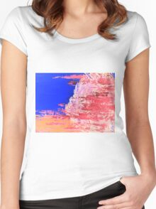Into the Mist Pantone Color of the Year 2016 Abstract Women's Fitted Scoop T-Shirt