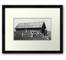 Harley Davidson MCC of SA Clubrooms 1926 Framed Print