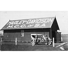 Harley Davidson MCC of SA Clubrooms 1926 Photographic Print
