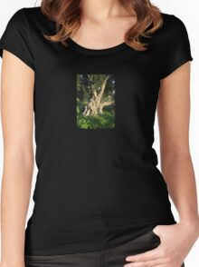 An Old Olive Tree Women's Fitted Scoop T-Shirt