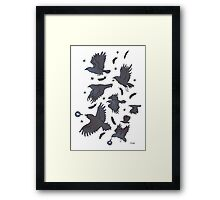 Flight of Ravens Framed Print