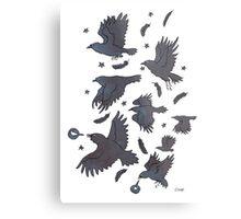 Flight of Ravens Metal Print