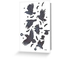Flight of Ravens Greeting Card