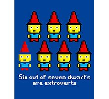 Six out of seven dwarfs are extroverts Photographic Print