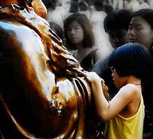 Touching Buddha by Wayne Gerard Trotman