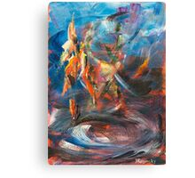 Dancer original abstract acrylic painting. Canvas Print