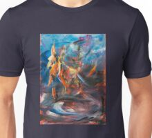 Dancer original abstract acrylic painting. Unisex T-Shirt