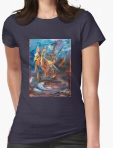 Dancer original abstract acrylic painting. Womens Fitted T-Shirt