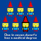 One in 7 dwarfs has a medical degree by monsterplanet