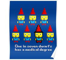 One in 7 dwarfs has a medical degree Poster
