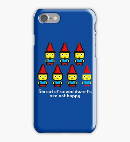 Six out of seven dwarfs are not happy iPhone Case/Skin