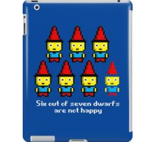 Six out of seven dwarfs are not happy iPad Case/Skin