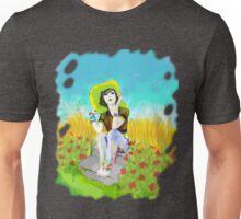 Oleo de una mujer con Sombrero Unisex T-Shirt