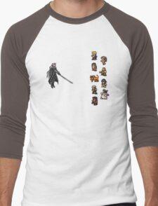 FFRK - Final Fantasy VII Final Fight - Avalanche vs Sephiroth (FF7) Men's Baseball ¾ T-Shirt