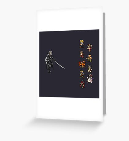 FFRK - Final Fantasy VII Final Fight - Avalanche vs Sephiroth (FF7) Greeting Card
