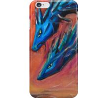 Blue Dragons original acrylic painting. iPhone Case/Skin