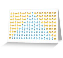 Fire and Water Emojis Greeting Card